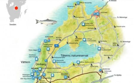 Vadstena, Tåkern, Borghamn, Omberg, Vättern
